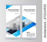 abstract flyer design... | Shutterstock .eps vector #672114553