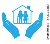 nursing home for elderly in... | Shutterstock .eps vector #672116380