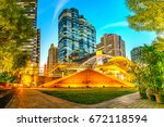 empire tower empire tower at... | Shutterstock . vector #672118594