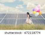 child with future of... | Shutterstock . vector #672118774