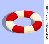 isolated lifebuoy or swimming... | Shutterstock .eps vector #672120883