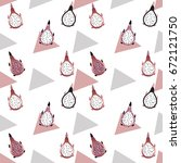 dragon fruit background with... | Shutterstock .eps vector #672121750
