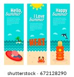 travel and vacation vector... | Shutterstock .eps vector #672128290