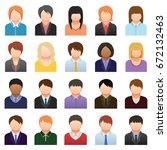 business people color icons.... | Shutterstock . vector #672132463