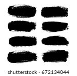 abstract black paint set for... | Shutterstock .eps vector #672134044