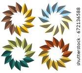 leaf  | Shutterstock .eps vector #672136588