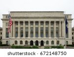 washington dc   the department... | Shutterstock . vector #672148750