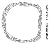 twisted rope round frame   two... | Shutterstock .eps vector #672150898