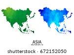 couple polygon set map   high... | Shutterstock .eps vector #672152050