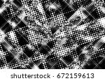 grunge black and white circle... | Shutterstock . vector #672159613