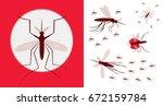 mosquito net icon. vector... | Shutterstock .eps vector #672159784