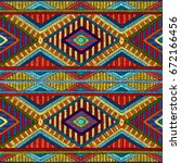 embroidered seamless geometric... | Shutterstock .eps vector #672166456