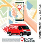 delivery tracking cargo  ... | Shutterstock .eps vector #672166768