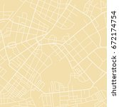 editable vector street map of... | Shutterstock .eps vector #672174754