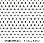 vector pattern in the cat's paw | Shutterstock .eps vector #672175540