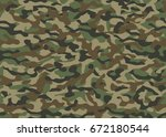 military camouflage. seamless... | Shutterstock .eps vector #672180544