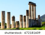 sanctuary of asklepios at... | Shutterstock . vector #672181609