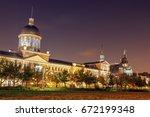 bonsecours market building in... | Shutterstock . vector #672199348