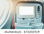 empty white mock up of aircraft ... | Shutterstock . vector #672202519