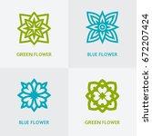 natural floral logo set.... | Shutterstock . vector #672207424
