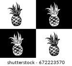vector summer seamless pattern... | Shutterstock .eps vector #672223570