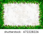 square grass frame with copy... | Shutterstock . vector #672228226