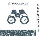 doodle binocular | Shutterstock .eps vector #672231919