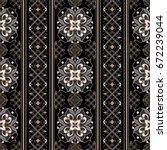 element for design in eastern... | Shutterstock .eps vector #672239044