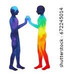 mastermind  chakra power ... | Shutterstock . vector #672245014