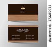 vector modern business card...   Shutterstock .eps vector #672250756