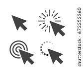 computer mouse click cursor... | Shutterstock .eps vector #672253360