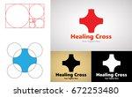 healing cross logo design for... | Shutterstock .eps vector #672253480
