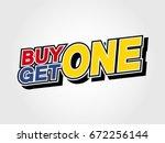 buy one get one | Shutterstock .eps vector #672256144