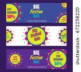 creative big festive banner... | Shutterstock .eps vector #672258220