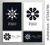 black and white mandala round... | Shutterstock .eps vector #672262786