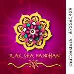 calligraphic greeting on... | Shutterstock .eps vector #672265429