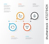 zoo icons set. collection of... | Shutterstock .eps vector #672273424