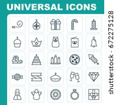 happy icons set. collection of... | Shutterstock .eps vector #672275128
