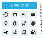 set of 12 editable vehicle...