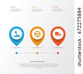 car icons set. collection of... | Shutterstock .eps vector #672275884