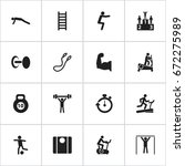 set of 16 editable active icons.... | Shutterstock .eps vector #672275989