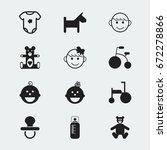 set of 12 editable child icons. ...
