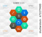 costumer journey icons set.... | Shutterstock .eps vector #672279400