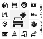 set of 12 editable car icons....