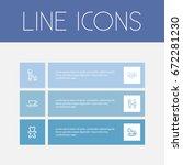 set of 6 editable family icons. ...
