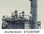 power plant station light of...   Shutterstock . vector #672285589
