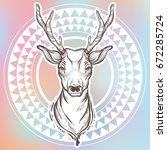 vector trendy illustration with ... | Shutterstock .eps vector #672285724