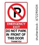 road sign parking area | Shutterstock .eps vector #672290434