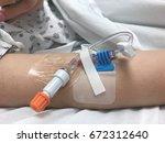 modern peripheral venous... | Shutterstock . vector #672312640