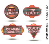 badge retro vector stamp... | Shutterstock .eps vector #672314164
